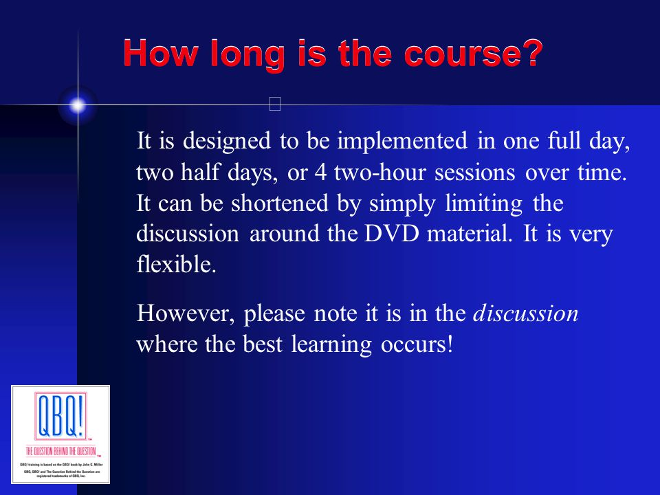 How long is the course