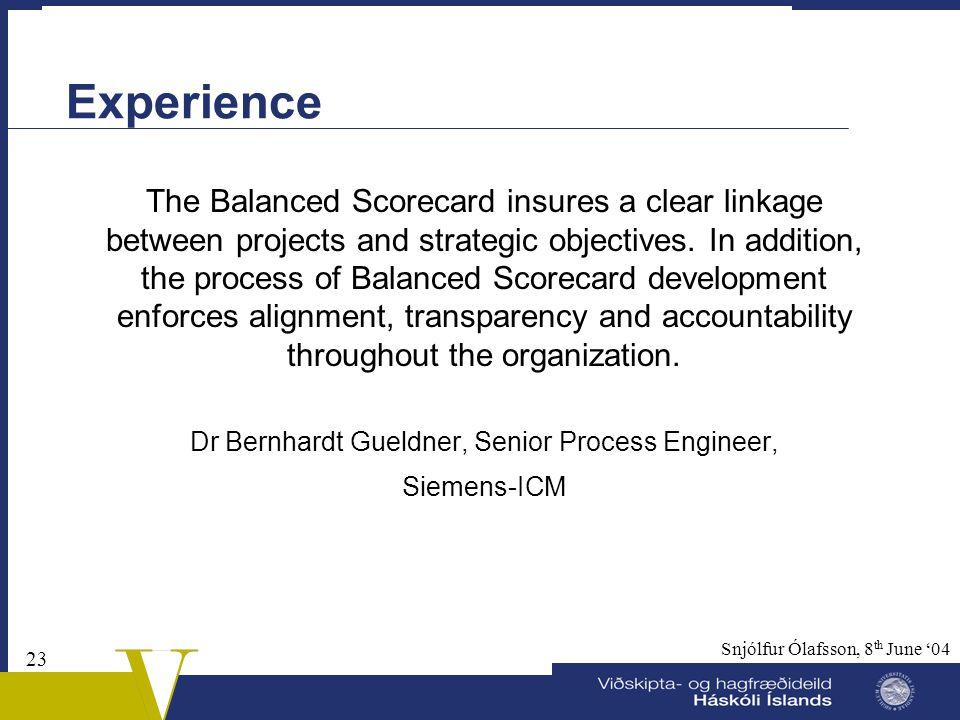 Dr Bernhardt Gueldner, Senior Process Engineer,