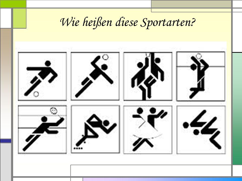 Wie heißen diese Sportarten