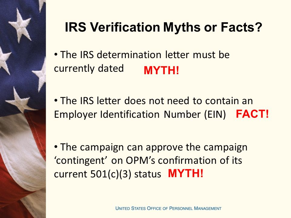 IRS Verification Myths or Facts