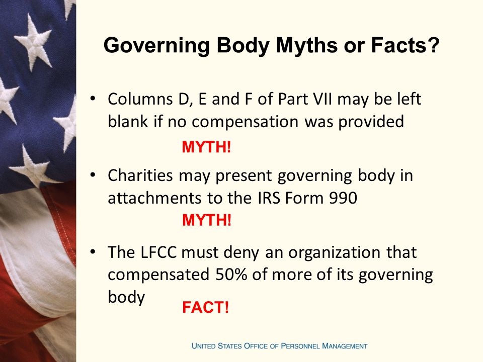 Governing Body Myths or Facts