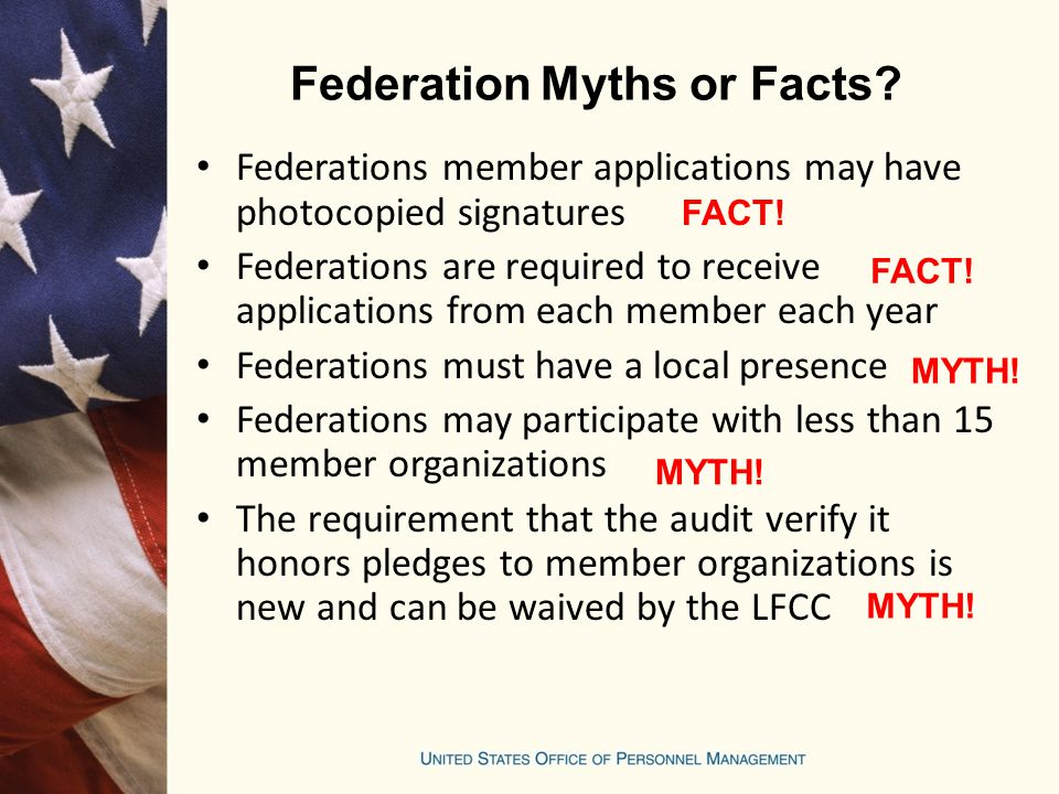 Federation Myths or Facts