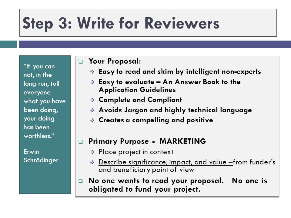 Step 3: Write for Reviewers