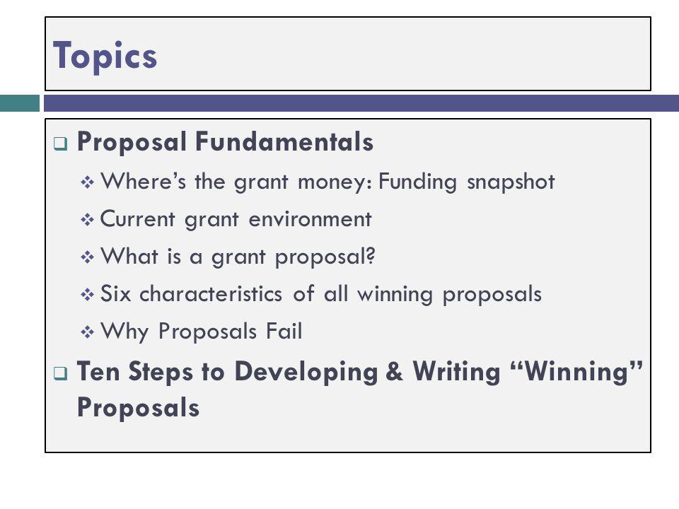 Topics Proposal Fundamentals