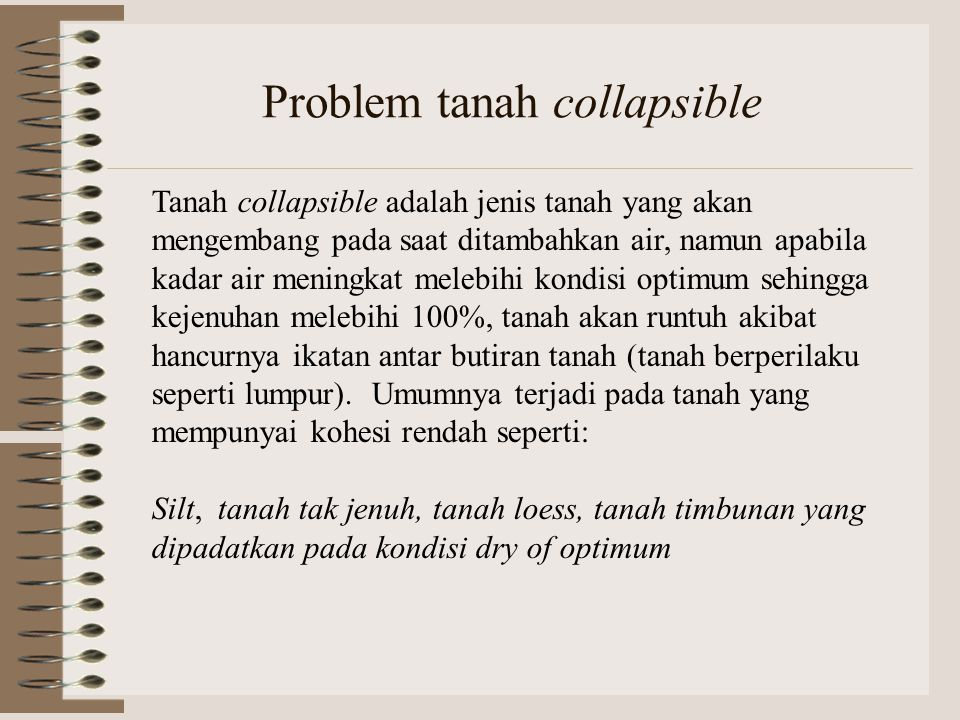 Problem tanah collapsible