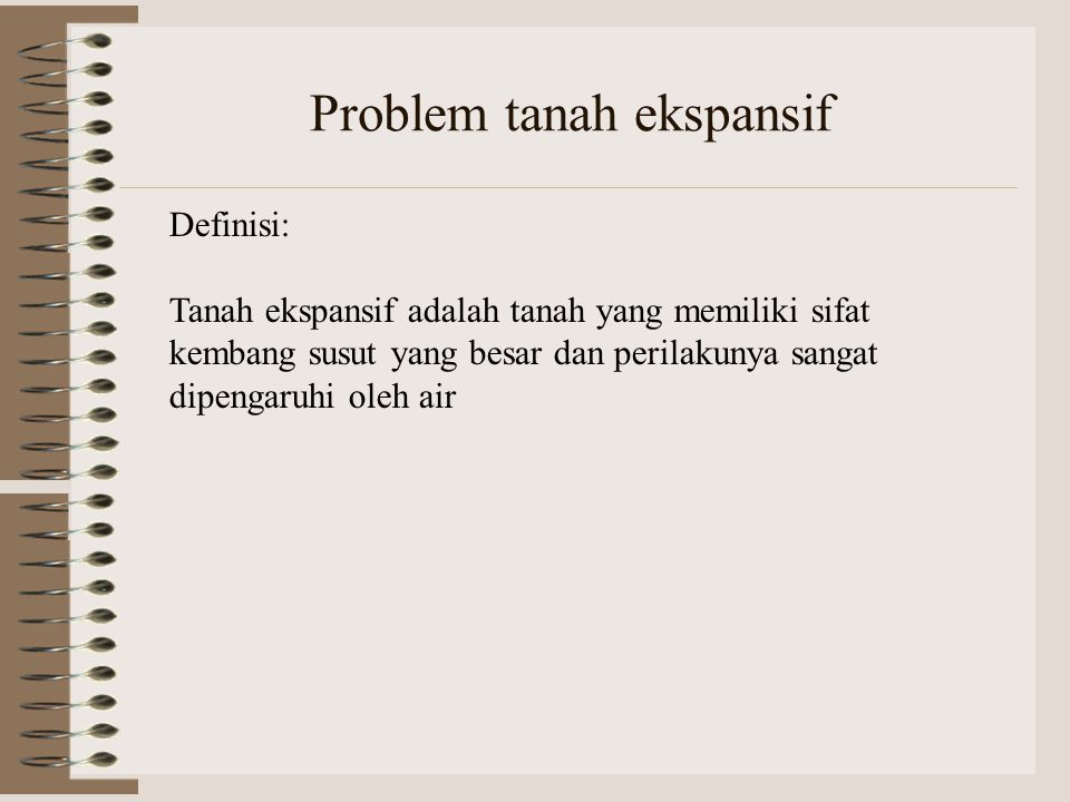 Problem tanah ekspansif