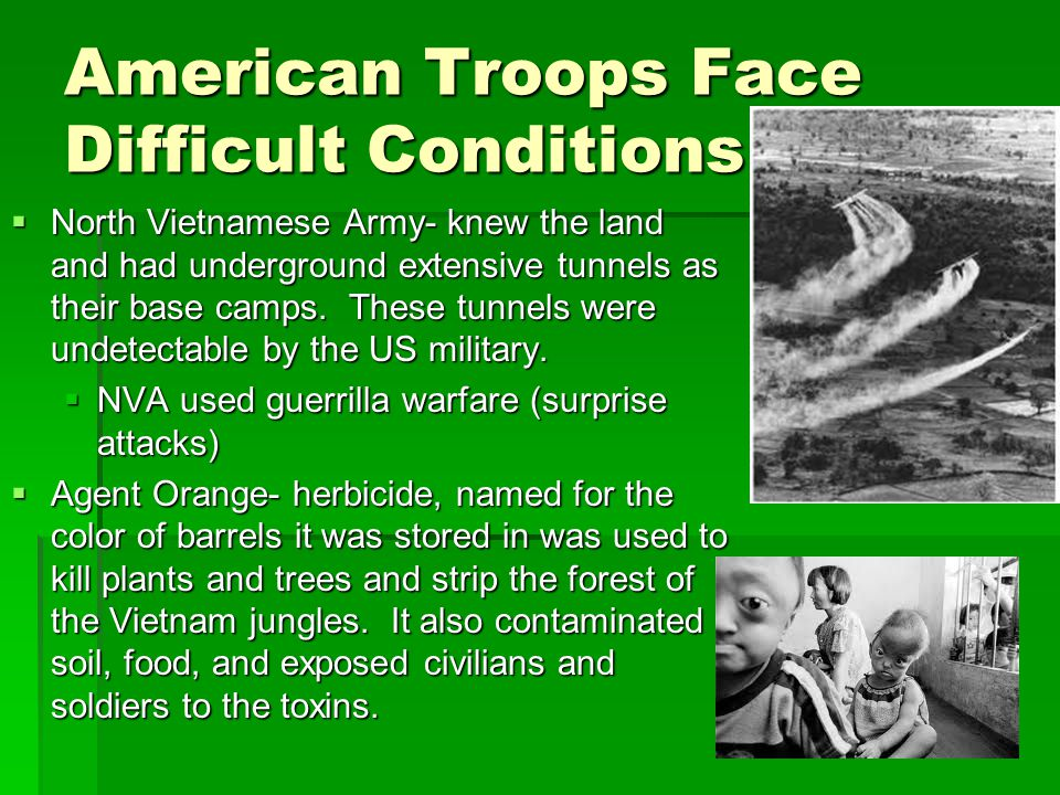 American Troops Face Difficult Conditions