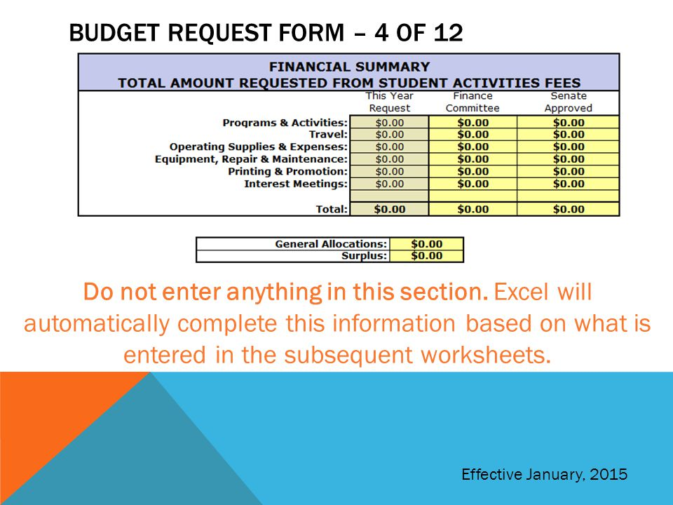 Budget request form – 4 of 12