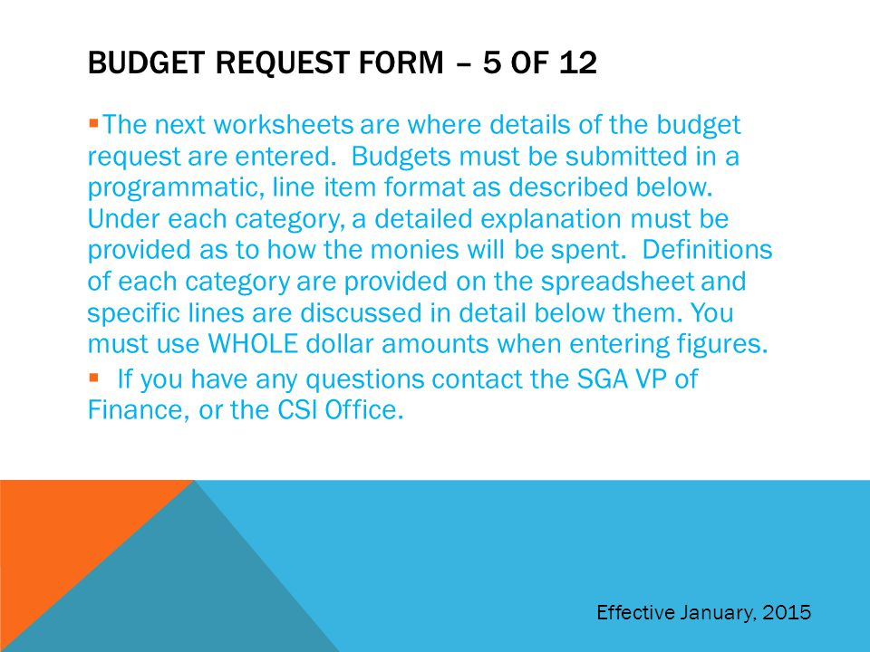Budget Request Form – 5 of 12