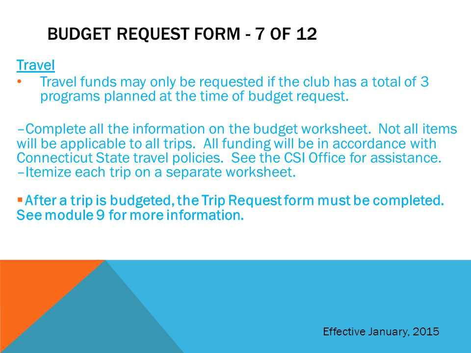 Budget request form - 7 of 12