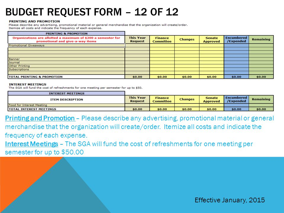 Budget request form – 12 of 12