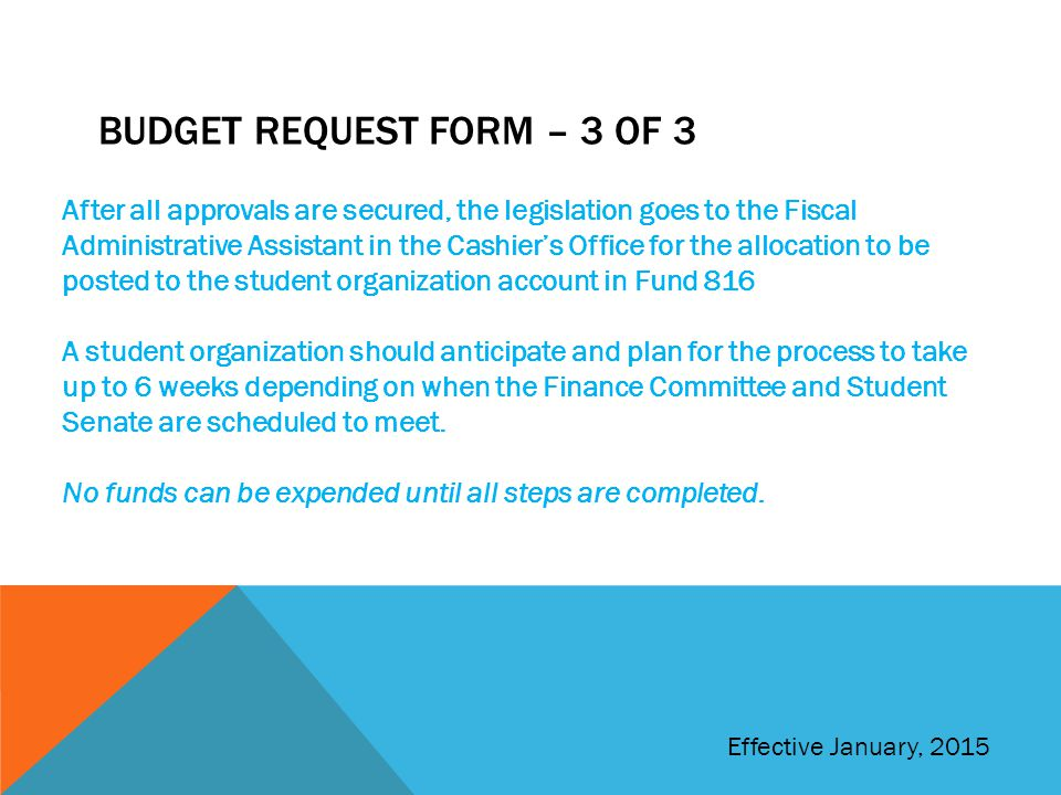 Budget request form – 3 of 3