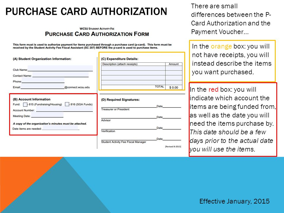 Purchase card authorization