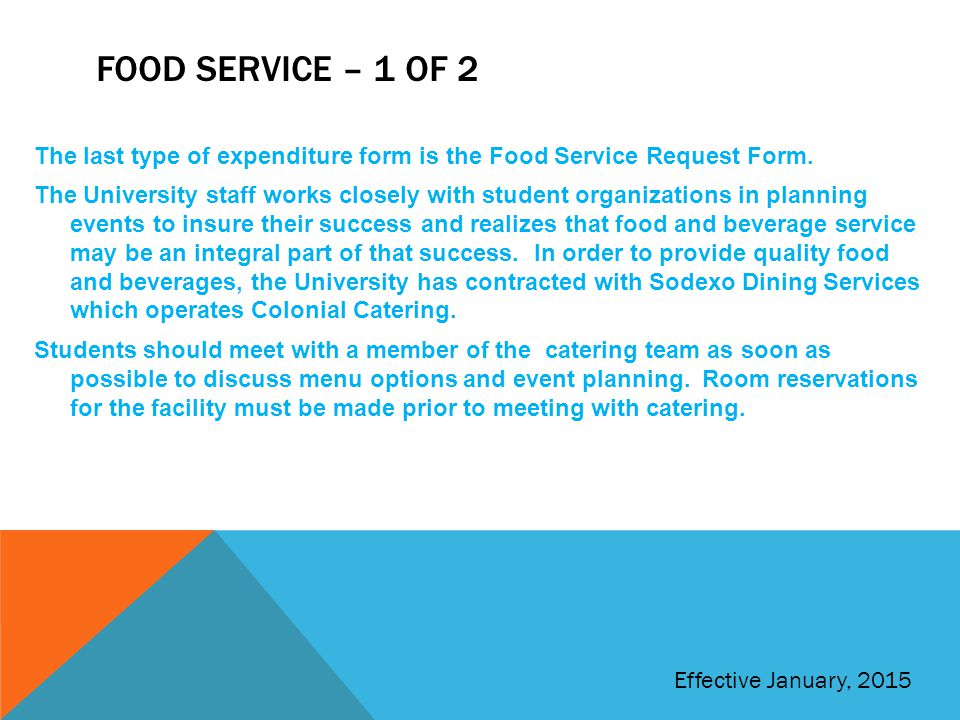Food service – 1 of 2