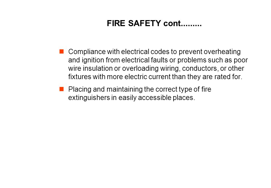 FIRE SAFETY cont.........