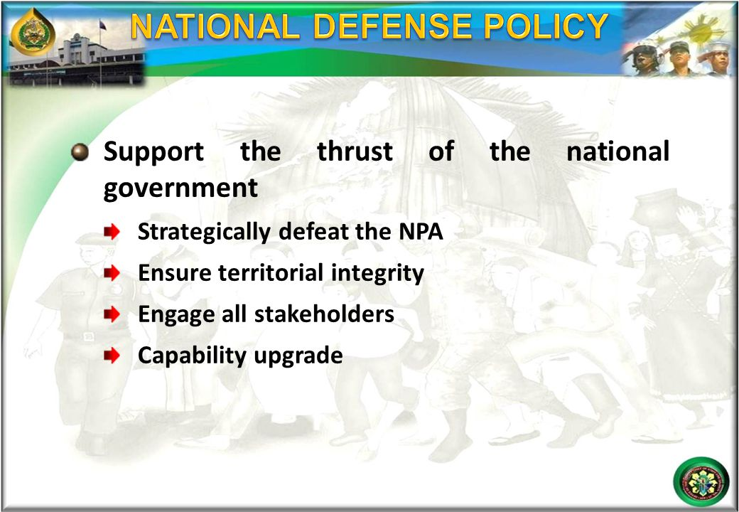 NATIONAL DEFENSE POLICY