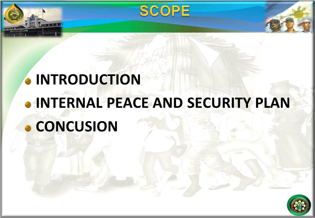 INTERNAL PEACE AND SECURITY PLAN CONCUSION