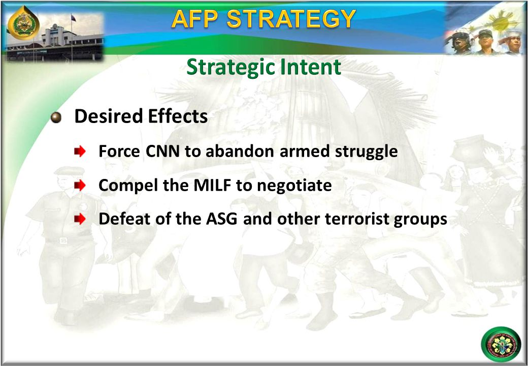 AFP STRATEGY Strategic Intent Desired Effects
