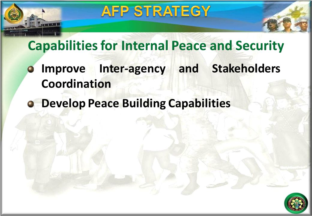 Capabilities for Internal Peace and Security