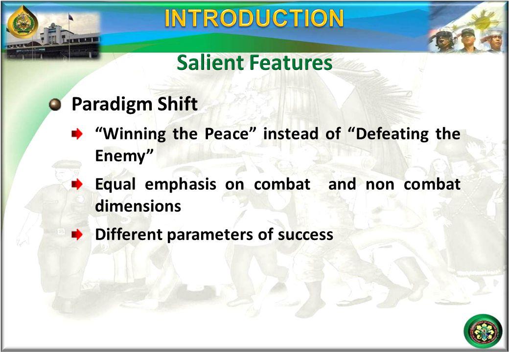 INTRODUCTION Salient Features Paradigm Shift