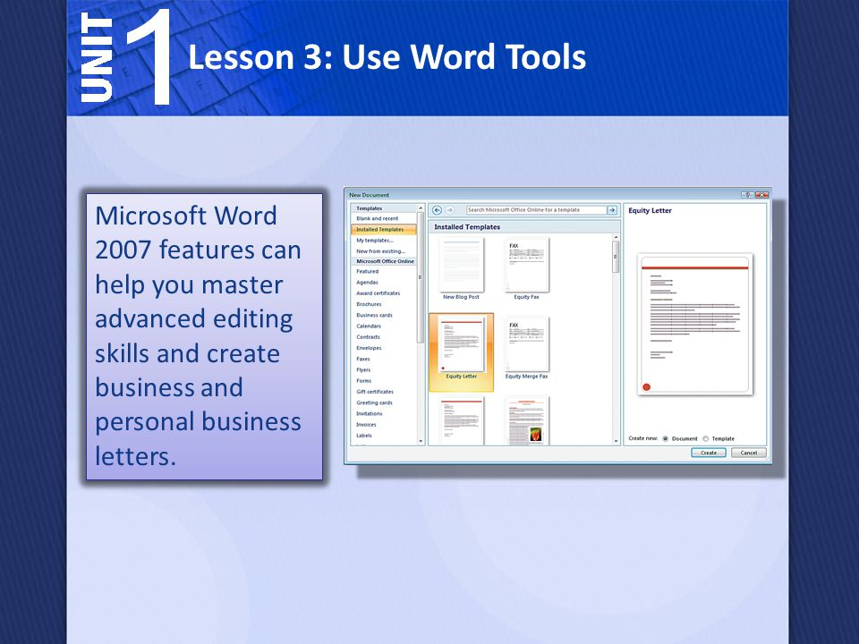 How can microsoft word 2007 help you write a business letter 2 lesson 3 use word tools microsoft word 2007 features can help you master advanced editing skills and create business and personal business letters spiritdancerdesigns Choice Image