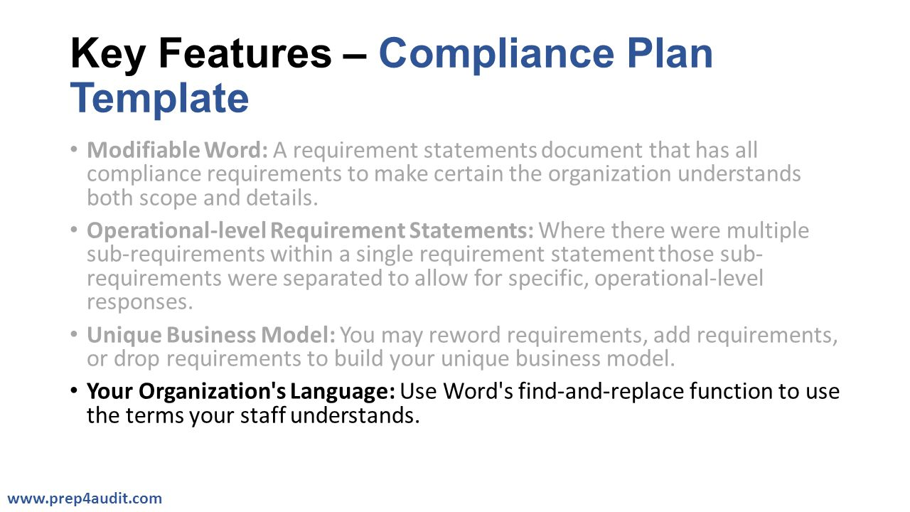 compliance statement template - compliance plan templates ppt video online download