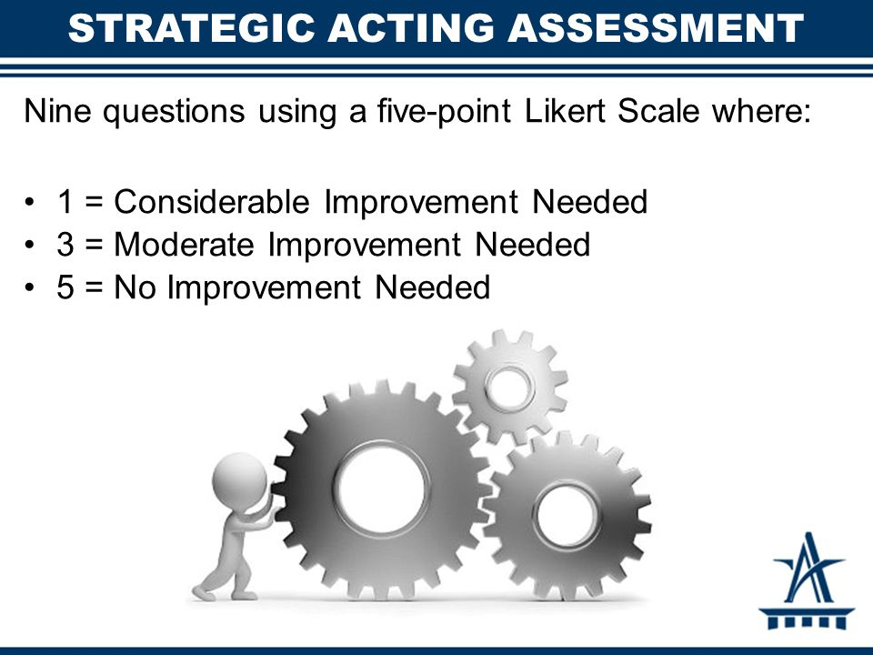 Strategic Acting Assessment