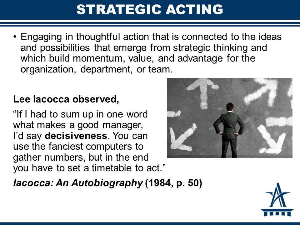 Strategic Acting