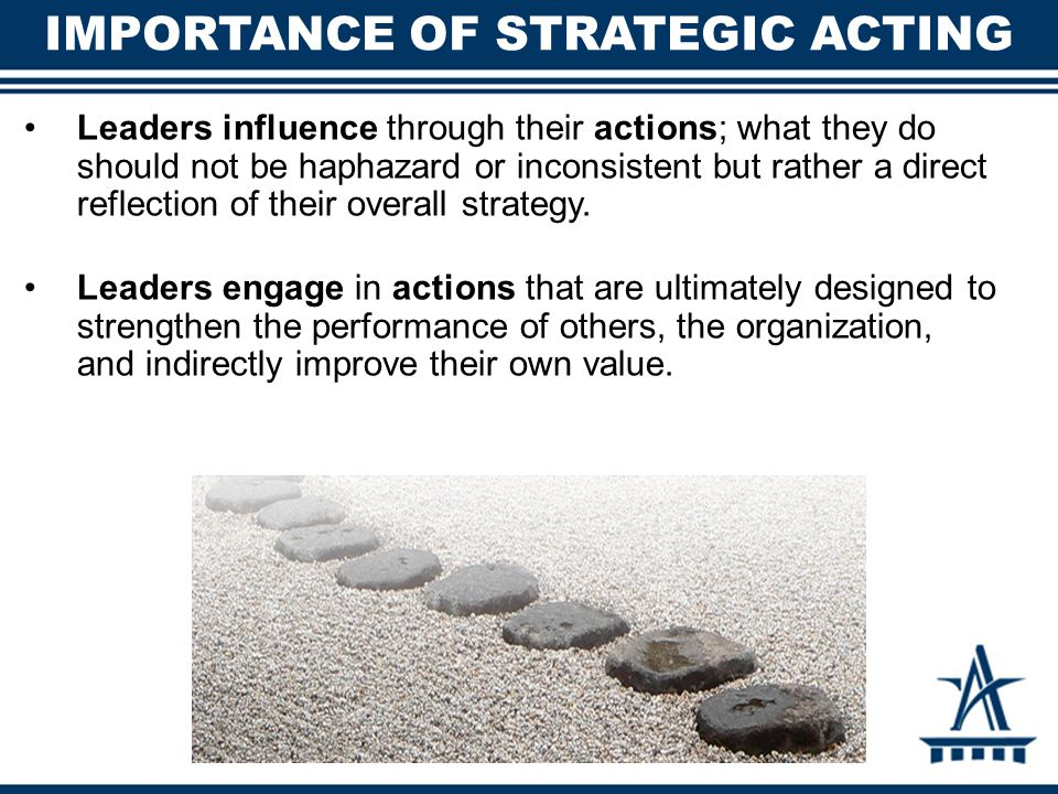 Importance of Strategic Acting
