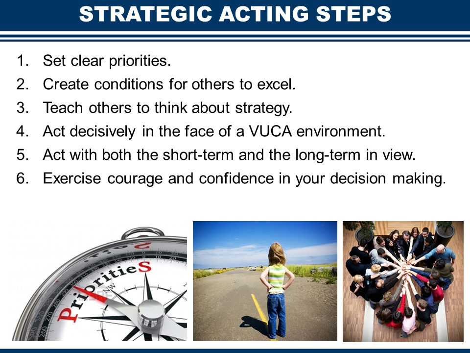 STRATEGIC ACTING STEPS