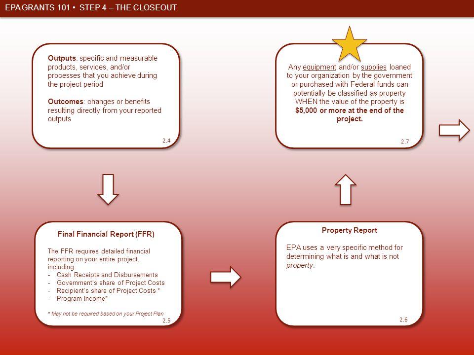 Final Financial Report (FFR)