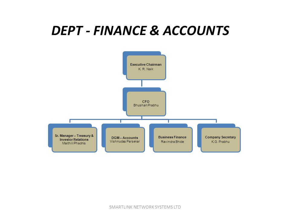 DEPT - FINANCE & ACCOUNTS