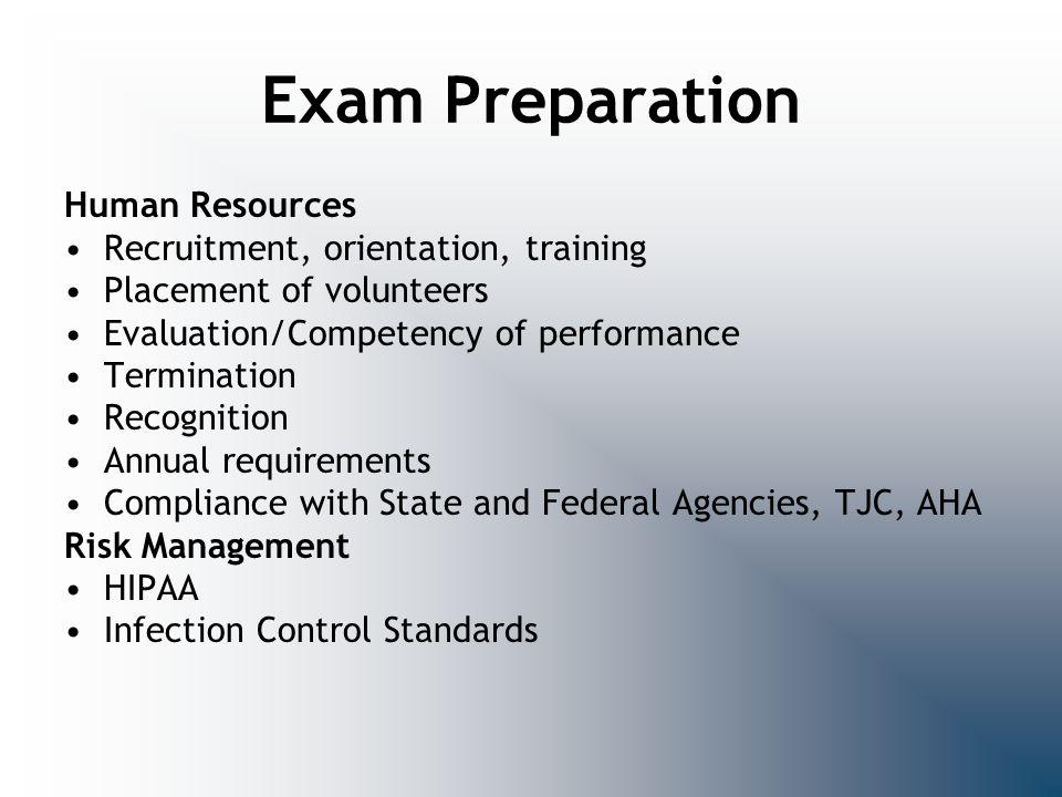 Exam Preparation Human Resources Recruitment, orientation, training