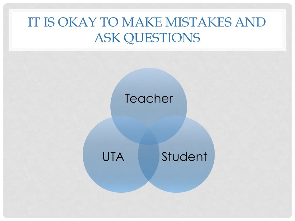 It is Okay to Make mistakes and Ask questions
