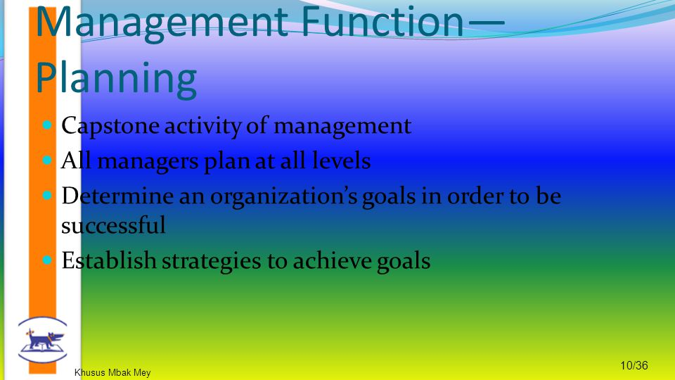 Management Function—Planning
