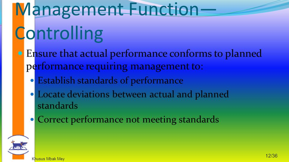 Management Function—Controlling