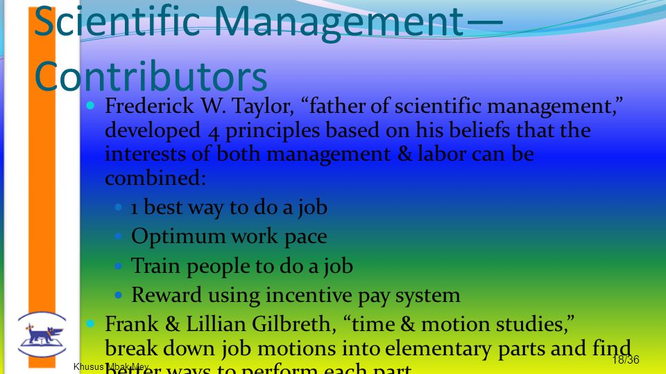 Scientific Management—Contributors