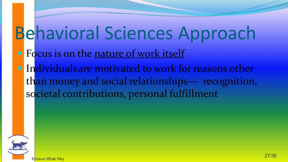 Behavioral Sciences Approach
