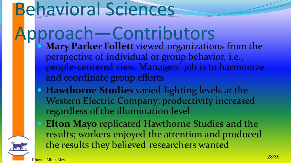 Behavioral Sciences Approach—Contributors