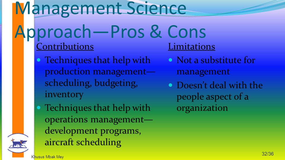 Management Science Approach—Pros & Cons