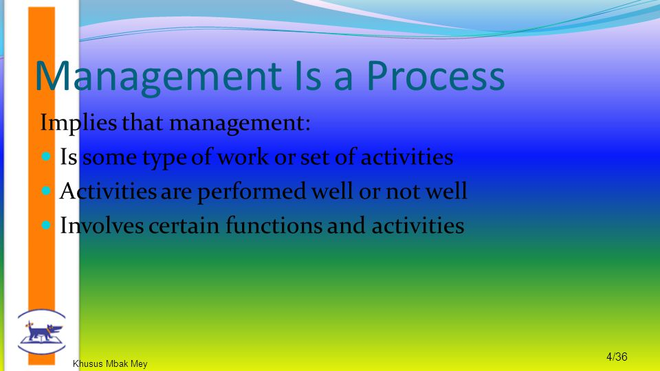 Management Is a Process