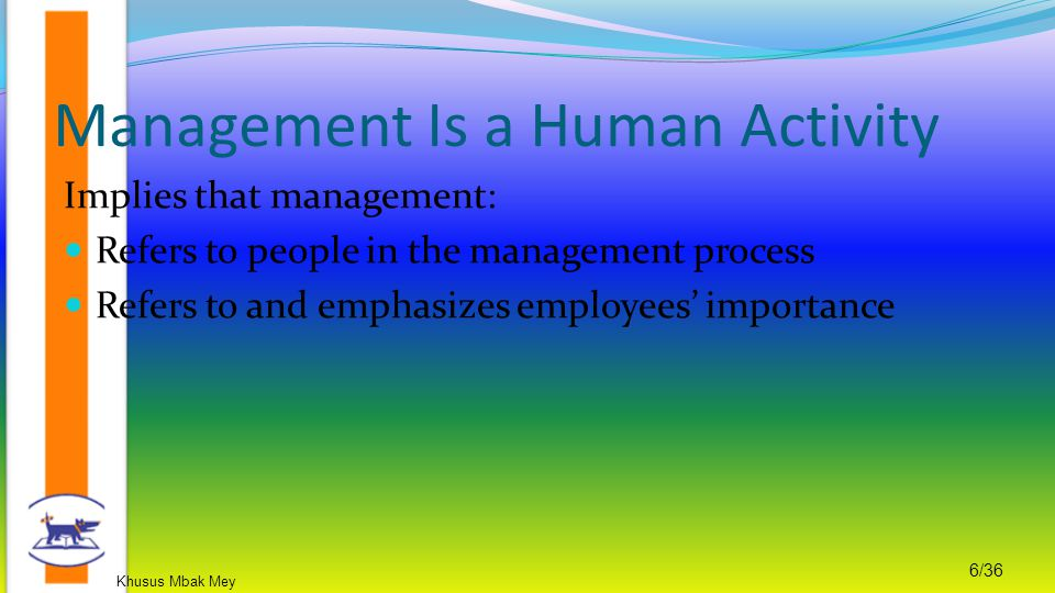 Management Is a Human Activity