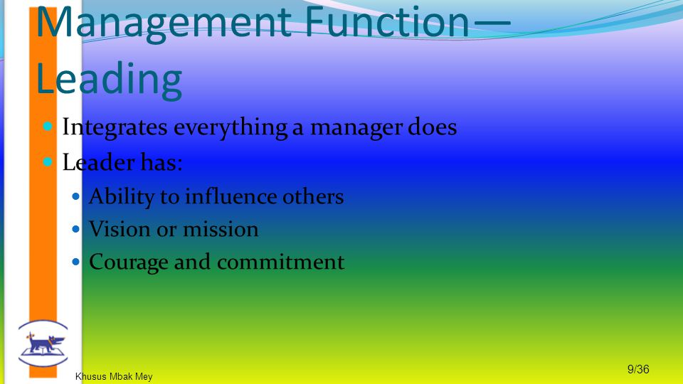 Management Function—Leading