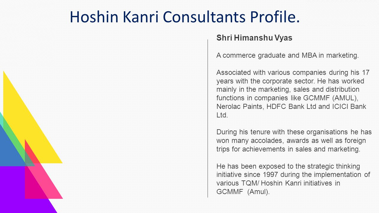 Hoshin Kanri Consultants Profile.