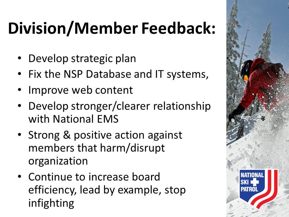 Division/Member Feedback: