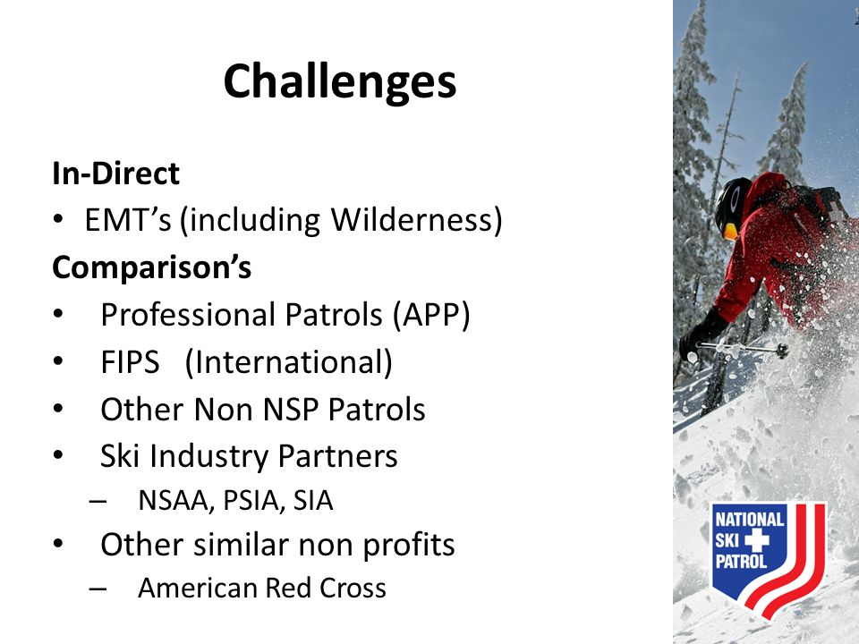 Challenges In-Direct EMT's (including Wilderness) Comparison's