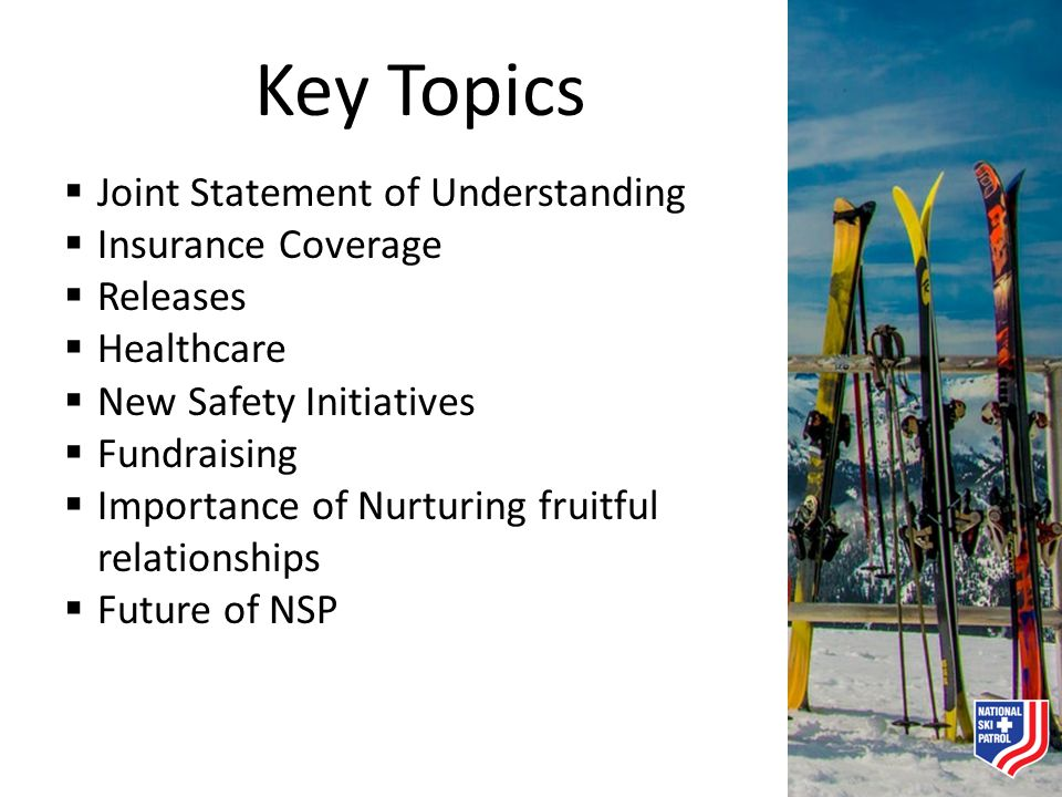 Key Topics Joint Statement of Understanding Insurance Coverage
