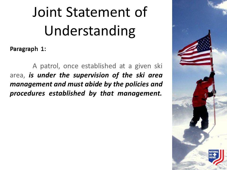 Joint Statement of Understanding