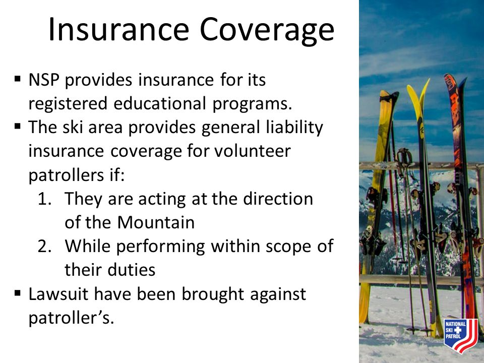 Insurance Coverage NSP provides insurance for its registered educational programs.