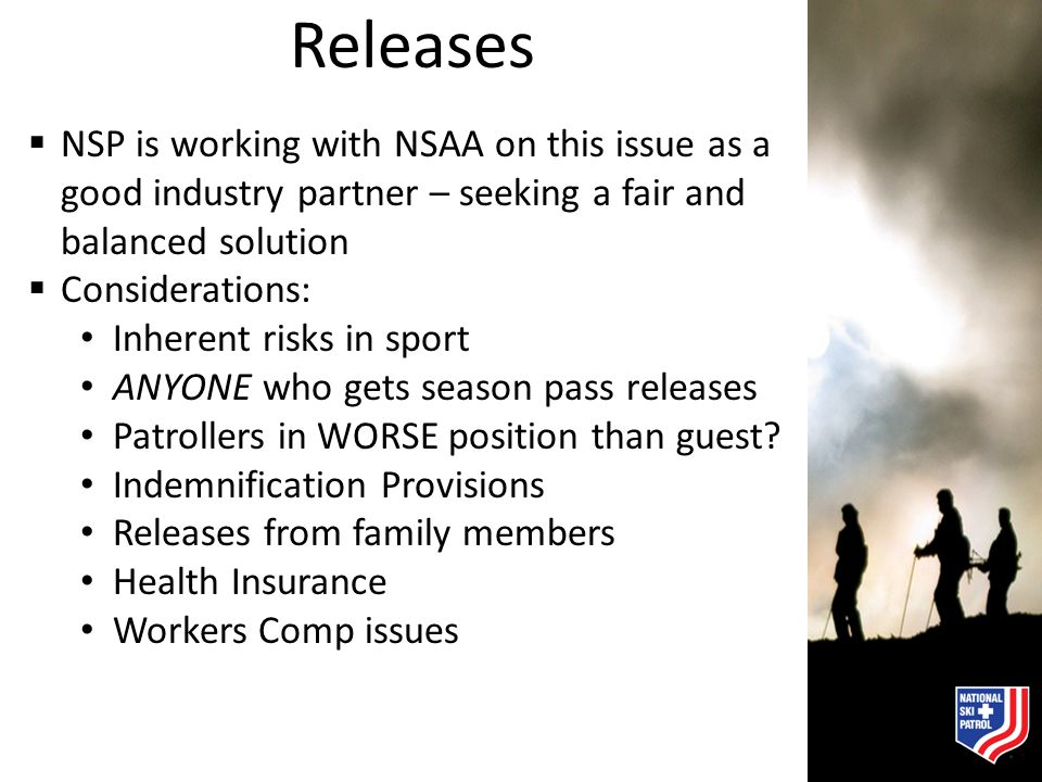 Releases NSP is working with NSAA on this issue as a good industry partner – seeking a fair and balanced solution.